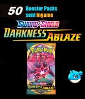x50 Darkness Ablaze codes booster packs ingame Pokemon TCG Online sent superfast