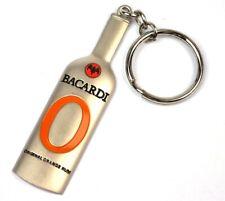 """Bacardi Rum """"O"""" Orange Fledermaus Logo Flasche USA Schlüsselanhänger Key Chain"""