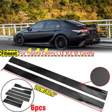 Carbon Fiber Painted Side Skirt Extensions Splitters Lip For Toyota Camry 866 Fits Toyota Supra