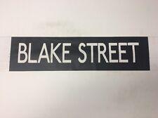 "Birmingham Vintage Linen Bus Blind 60's 27""- Blake Street"
