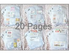 (20) COUPON SLEEVES ORGANIZERS HOLDERS PAGES BINDER SET!! GREAT DEAL!!