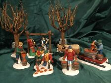 """Dpt 56 Heritage Village #56599 Nev """"Tapping The Maples� Set Of 7"""