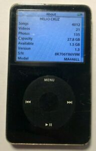 Apple iPod Classic 5th Gen Black (30 GB) A1136 Good Used 4012 Songs