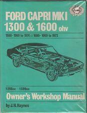 FORD CAPRI MK1 ( 1300 OHV & 1600 OHV ) 1969 - 1972 OWNERS WORKSHOP MANUAL