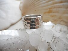 Sterling Silver 925 Elias Sterling Dimpled Band Ring    RE1748