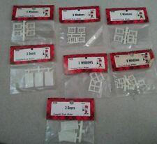 LOT OF 7 CAMPBELL SCALE MODELS DETAILS PLASTIC WINDOWS HO 912 901 902 904 903 91