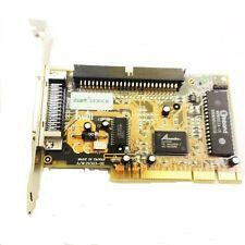 ADVANSYS ASC3050B SIDE-293U+ SCSI CONTROLLER PCI 50 PIN BOOTABLE HDD CD RARE PC