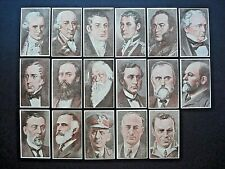 1940's STAMINA TROUSERS *THE WORLD'S GREAT MEN* COMPLETE 17 CARD SET (1-17)