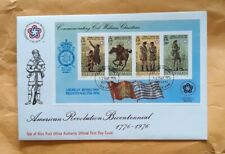 American revolution, Col. William Christian, Isle of Man, 2 different Fdcs.