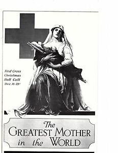 "Unframed Poster Art War Ad Red Cross ""Greatest Mother in the World"" (198m)"