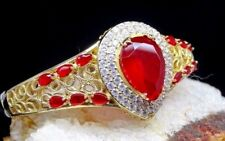 Turkish Handmade 925 Sterling Silver Special Authentic Ruby Ladies Bracelett