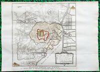 XVIII ème - Japon - Ville de Tokyo - Rare Plan par Bellin & Schley 38x27 de 1752