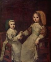 """oil painting handpainted on canvas""""Louis XIV and his brother """"@13005"""