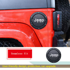 For Jeep Wrangler JK & Unlimited 07-2017 Fuel Filler Gas Cover Skull Tank Cap