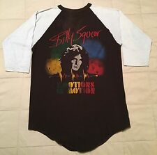 1982 Billy Squier Tour T-Shirt Baseball Raglan Vtg 1980s Rock Concert Tee squire