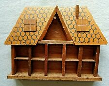 Small Vintage House Wooden Thimble Display Rack