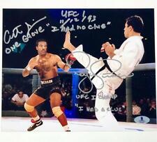 "ART""One Glove""JIMMERSON & ROYCE GRACIE Signed UFC 1 8x10 Photo ~ Beckett BAS COA"