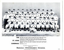 1958 ST. LOUIS CARDINALS TEAM PHOTO MUSIAL FLOOD HACK  BASEBALL HOF USA