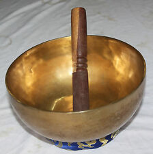 PLAIN 21 CM HAND BEATEN TIBETAN MEDITATION SINGING BOWL