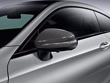 OEM GENUINE MERCEDES BENZ CARBON FIBER  MIRROR HOUSINGS COVERS 15-UP C W205