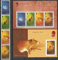 China Hong Kong 2008 New Year of Rat Stamp set Zodiac