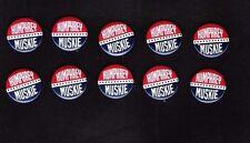 Close out sale ! 10 HHH Hubert Humphrey, Edmund Muskie campaign buttons