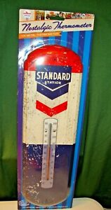 Standard Oil Co. Thermometer Tin Metal Sign -  Chevron - Gas Station