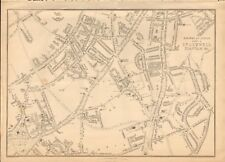 1863  LARGE ANTIQUE MAP - DISPATCH ATLAS- LONDON SUBURBS,STOCKWELL, CLAPHAM &c