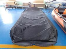 Schlauchbootplane Abdeckplane Persenning auf dem Wasser für 3,60m in Schwarz