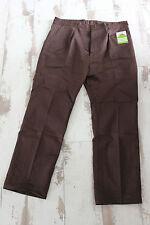 Vintage neuf Pantalon de travail marron - Le Beau Fort - Tergal - Taille 52