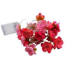 20m rosa Rosen-Blumen-feenhafte Schnur LED beleuchtet