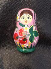 Matryoshka Wooden Russian Fridge Magnet Strawberry Hand Painted Free Shipping