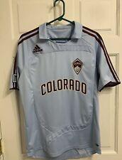Adidas COLORADO RAPIDS SOCCER JERSEY M Light Blue MLS ClimaCool Soccer Shirt