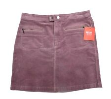 Mossimo Pencil Corduroy Mini Skirt Size 2 Marbella Mauve Zip Front and Pockets