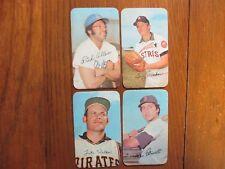 4-1971 Topps Super Cards(RICH  ALLEN/LARRY  DIERKER/LUKE WALKER/RICO PETROCELLI)