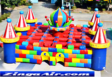 35x35x18 Commercial Inflatable Maze Palaces Game Obstacle Course Bounce House