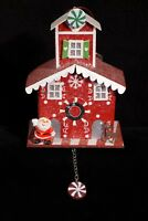 Lighted Santa Claus Christmas Cottage Ornament By North Pole - NWT