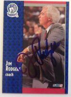 Jimmy Rodgers 1991 Fleer Hand Signed Card Minnesota Timberwolves