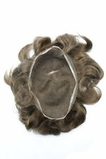 French Lace Mens Toupee Hairpiece Bleached Knots Natural Hairline Indian Hair