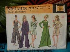 1969 McCall's JUMPSUIT & robe sewing pattern 9677 18/40 bust