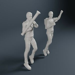 """Jonny Quest Dr Quest and Race Bannon Figures In Flight 3D Printed 1/35 scale 2"""""""