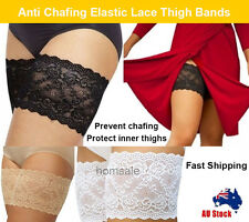Black Anti-Chafing Lace Thigh Bands