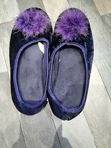 Worn Slippers Blue Size 4