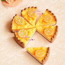 LOT OF 6PCS Delicious Orange Cakes Food Snacks 1/6 Dollhouse Miniature