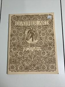 Vintage 1991 LEATHER ART INSTRUCTION BOOK By F.O. Baird  Original Copyright 1946