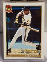 1991 Topps Barry Bonds Pittsburgh Pirates #570 Baseball Card.