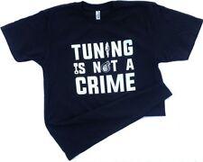 Tuning is not a crime racing car tshirt automotive mechanic mens small tshirt