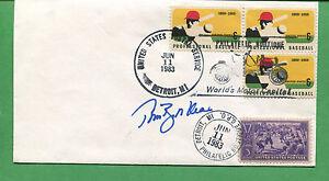 Firmado Cubierta Tom Brookens 1983 Detroit Tigers Infielder - B0770