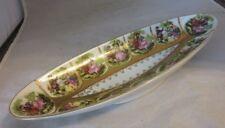 Vintage porcelain dish. Renaissance couples. Beehive mark