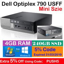 Dell Optiplex 790 USFF i3-2100 C 3.1Ghz 4GB Ram 240GB SSD Win 7 Mini Desktop PC